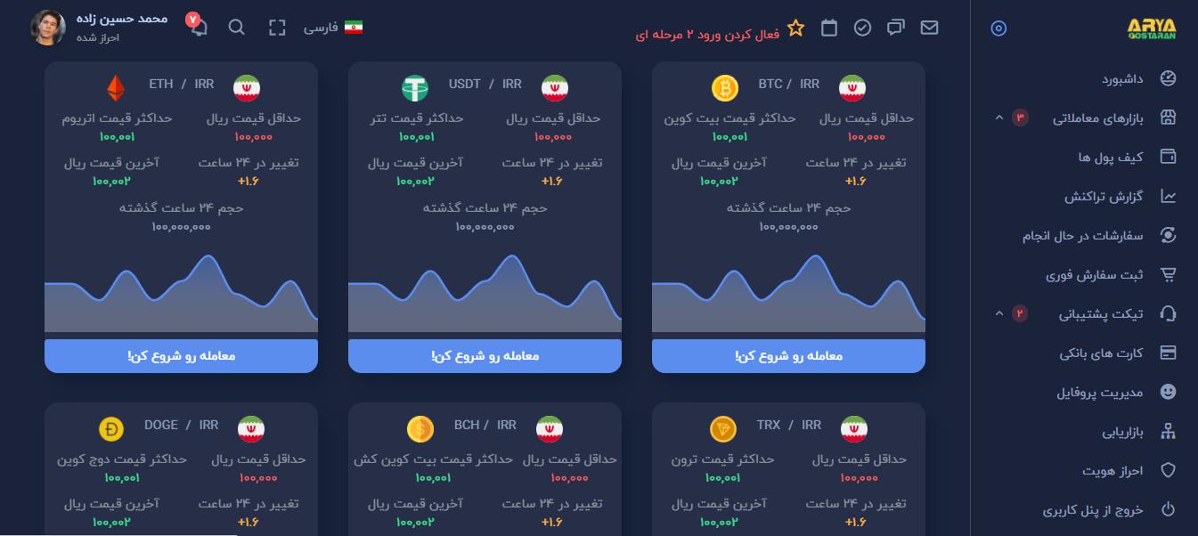 اسکریپت صرافی ارز دیجیتال نسخه طلایی